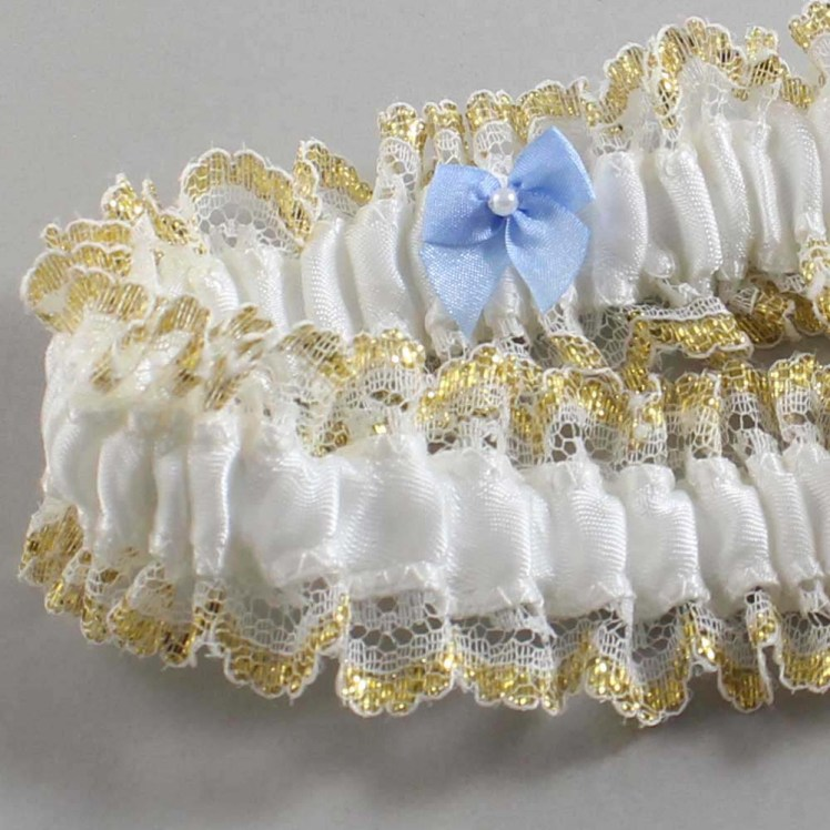 Customizable Bow Handcrafted Garter 4