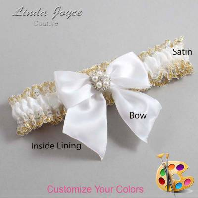 Customizable Bow Pearl Garter