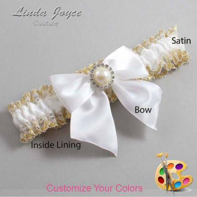 Customizable Bow Vintage Wedding Garter
