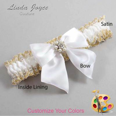 Customizable Bow Victorian Bridal Garter