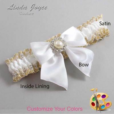 Customizable Bridal Bow Prom Garter