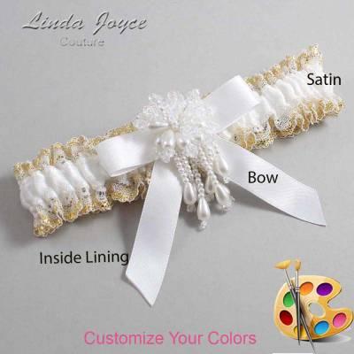 Customizable Wedding Garter / Kiley #04-B03-M38-Pearl