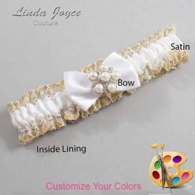 Customizable Wedding Garter / Deanna #04-B21-M13-Silver