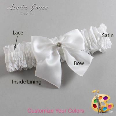 Customizable Wedding Garter / Pamela #06-B01-M04-Silver