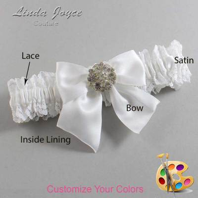 Customizable Wedding Garter / Elizabeth #06-B01-M11-Silver