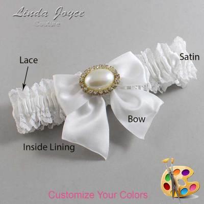 Customizable Wedding Garter / Nicole #06-B01-M28-Gold