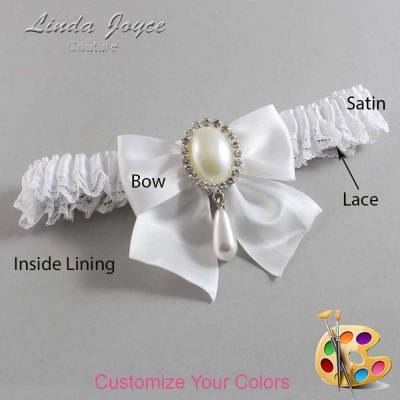 Customizable Wedding Garter / Michaela #09-B01-M35-Silver