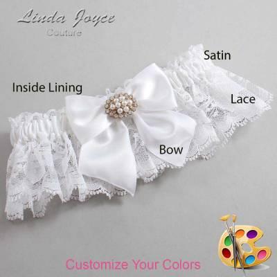 Customizable Wedding Garter / Cynthia #10-B01-M16-Gold