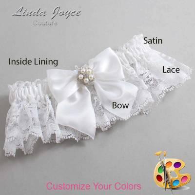 Customizable Wedding Garter / Kourtney #10-B01-M20-Silver