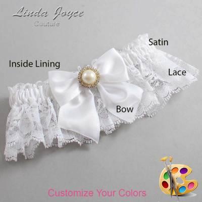 Customizable Wedding Garter / Paige #10-B01-M21-Gold