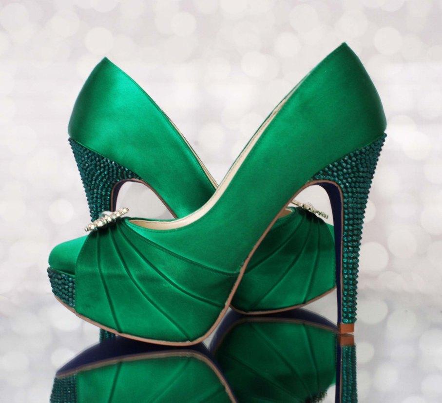 green wedding shoes  Ellie Wren