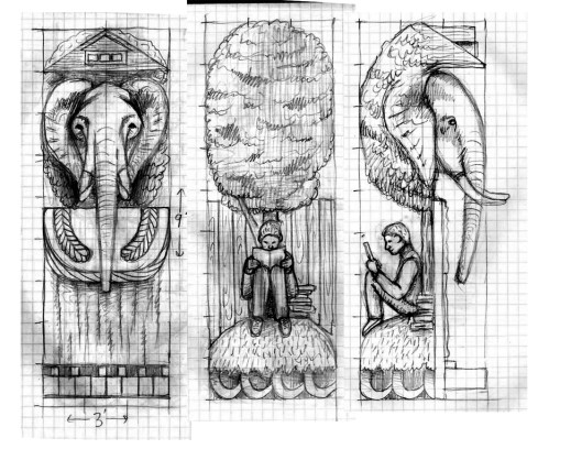 detailed sketches of playhouse
