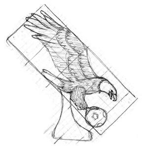 soccer eagle sketch