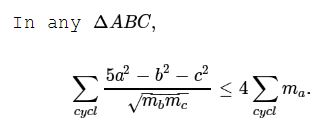 An Inequality in Triangle, VIII