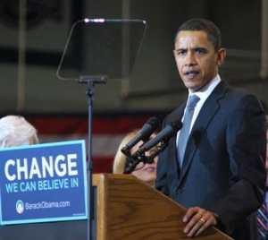 Teleprompter Obama