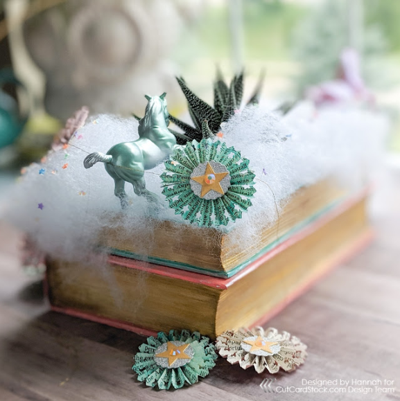 Altered Book Planter and Decorative Rosettes!