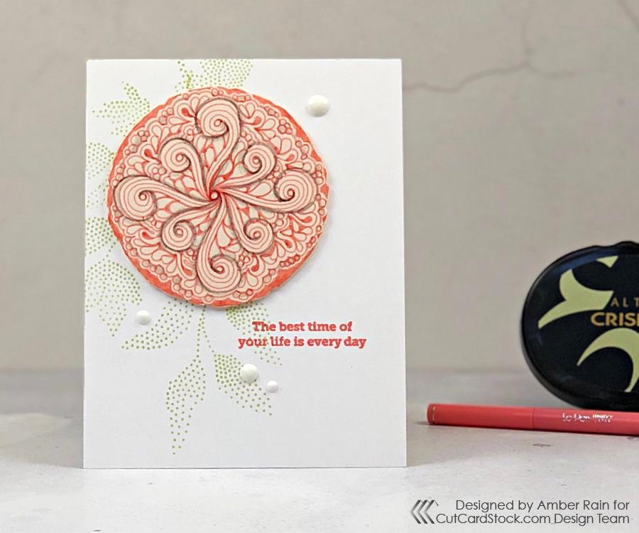Zentangle® Medallion Card
