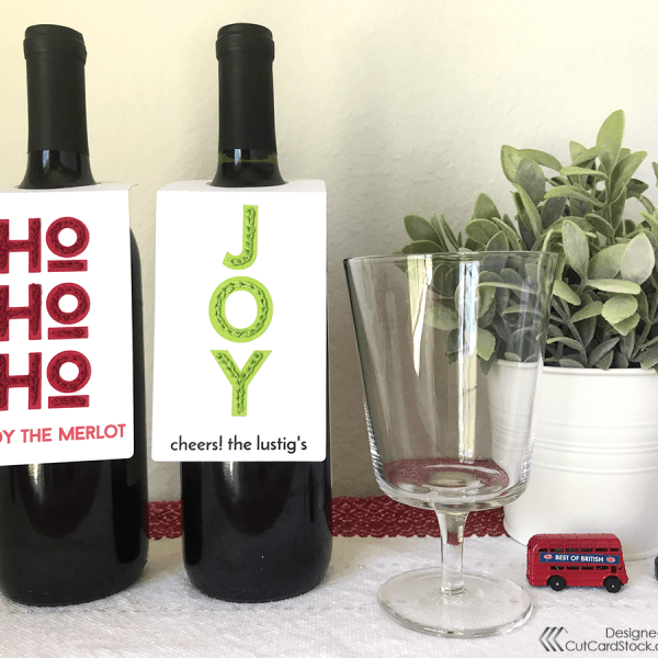 Stitched Wine Bottle Tags