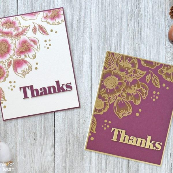 Yin and Yang Thank You Card Set