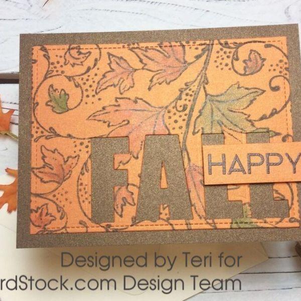 Happy Fall Card Set and Gift Box