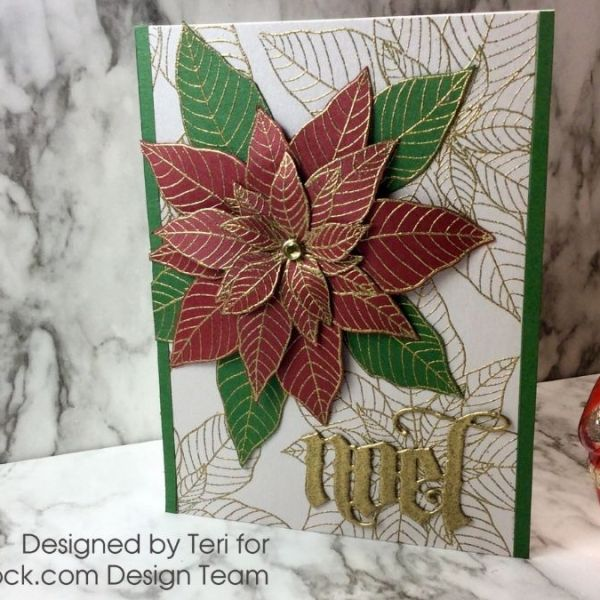 Dimensional Poinsettia Card