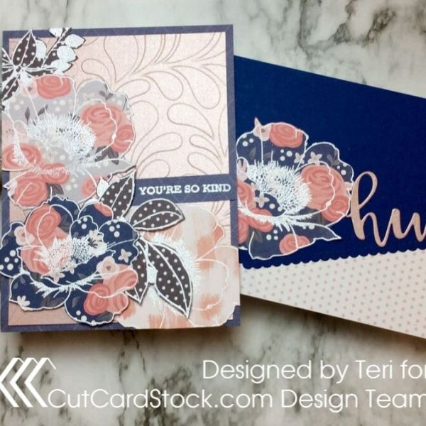 White Heat Embossing on Printed Paper
