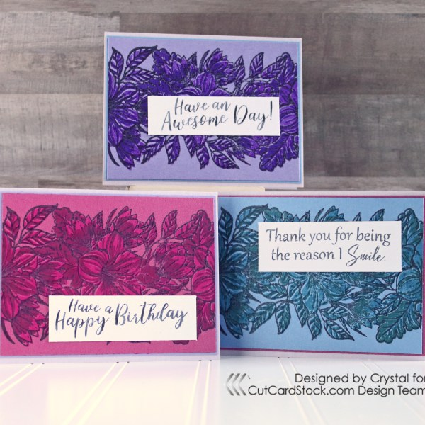 Layered Stamping Set of Cards