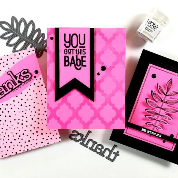 Neon Pink & Black Card Design