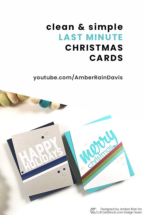 PINTEREST | CAS Last Minute Christmas Cards