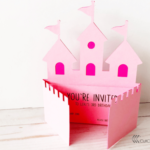 Little Girl's Castle Party Invitation