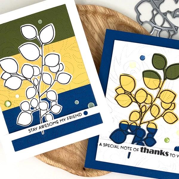 Cardstock Color Block Cards