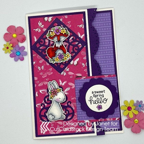 Sweet Spring Buckle Card