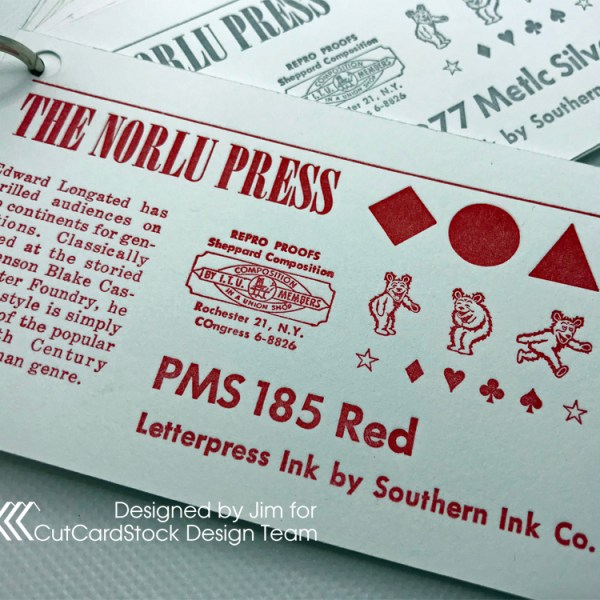 Ink-on-Stock Sample Cards for Your Shop