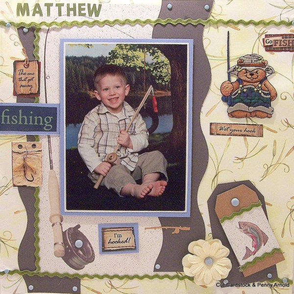 How Use 8 1/2 By 11 Cardstock on a 12 x 12 Scrapbook Layout
