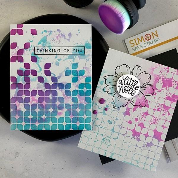 Layer Ink Smooshing & Stenciling on Savoy
