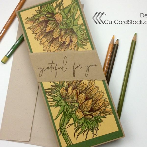 Slimline Sunflower Card