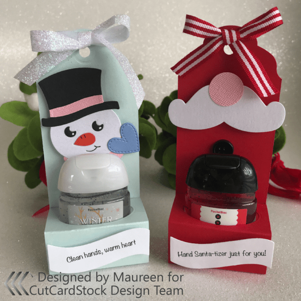 Wintery Hand Sanitizer Gift Holders