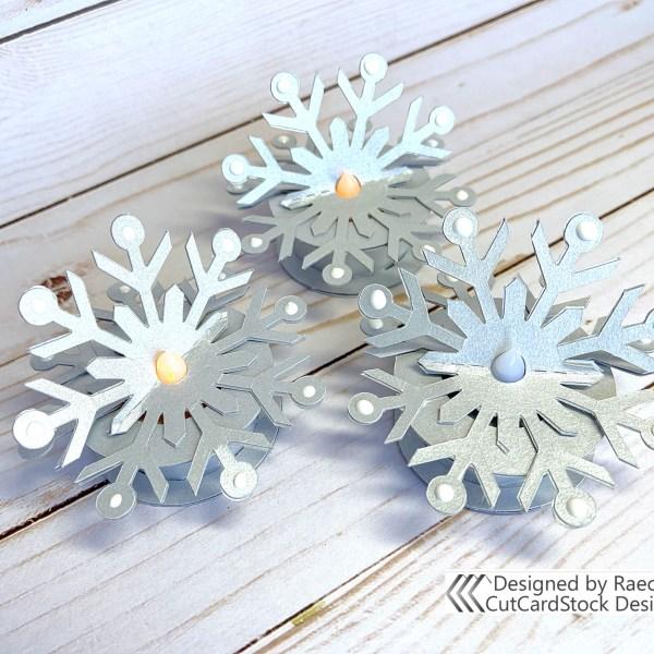 Snowflake Tealights | Raechelle Bellus