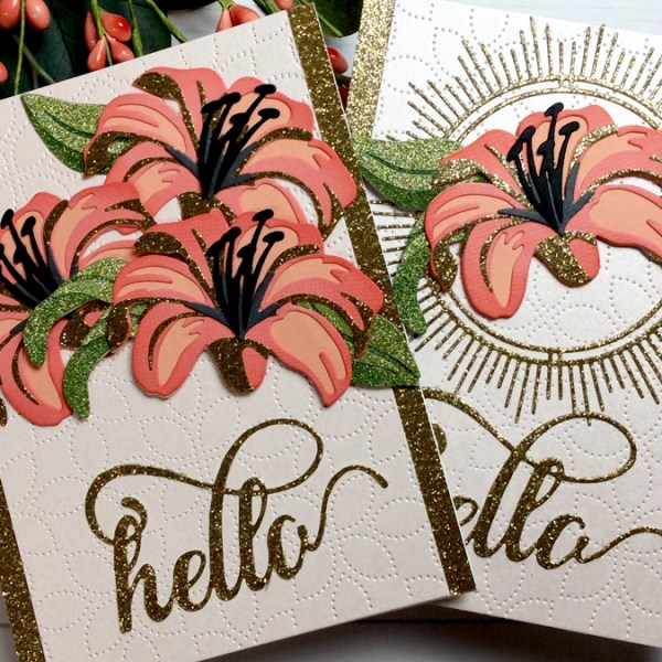 Diecut Flowers with Glitter Accents