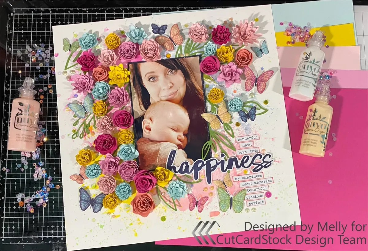 Rolled Flowers Layout