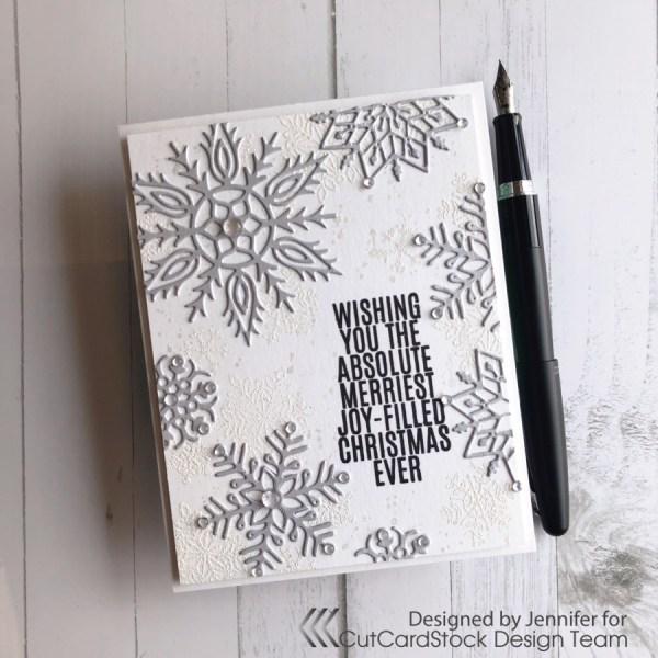 Sparkling Silver Christmas Card