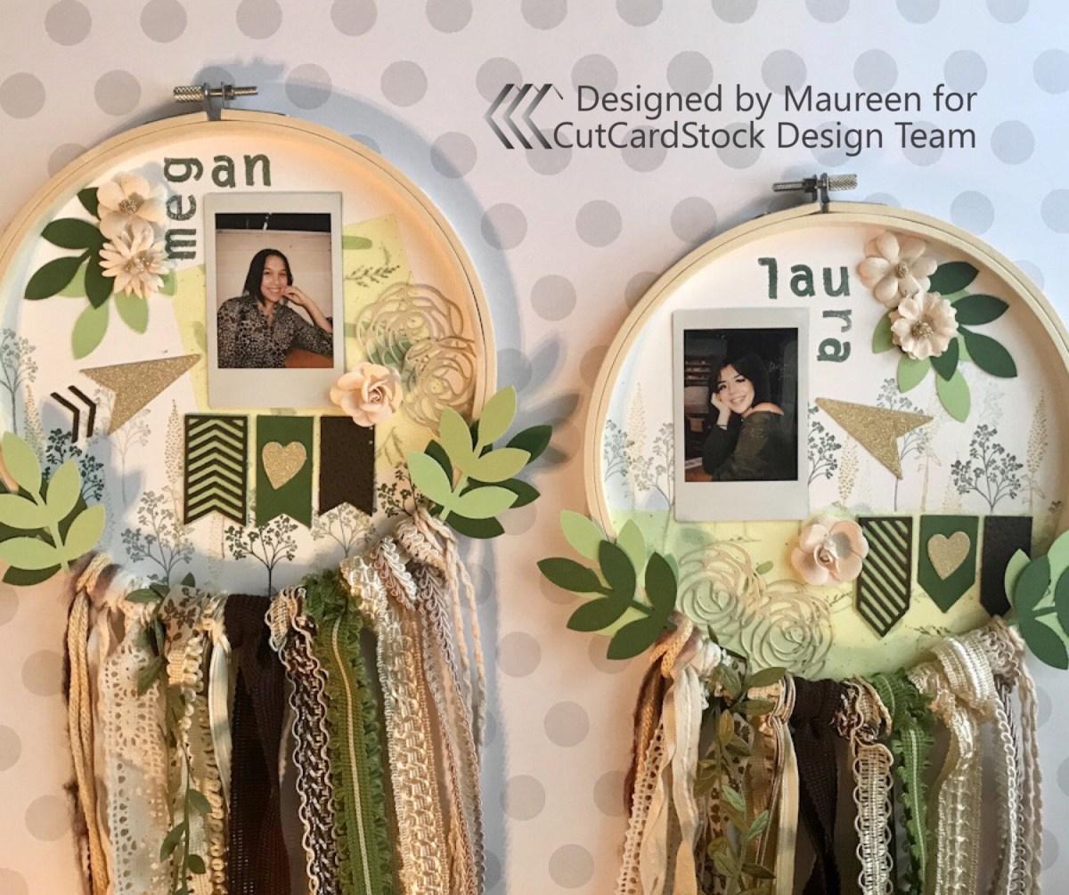 Embroidery Hoop Photo Displays