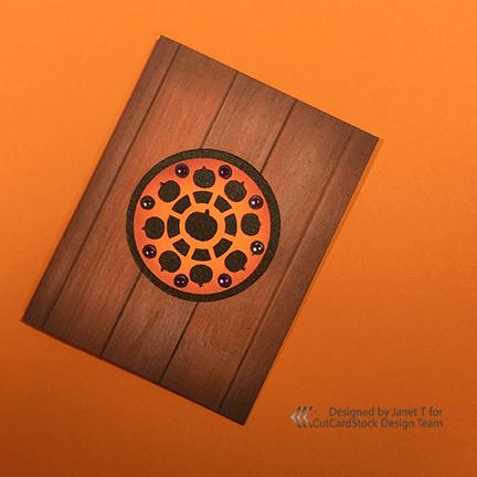 Pumpkin Mandala Card