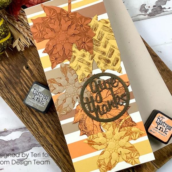 Slimline Textured Leaves Card