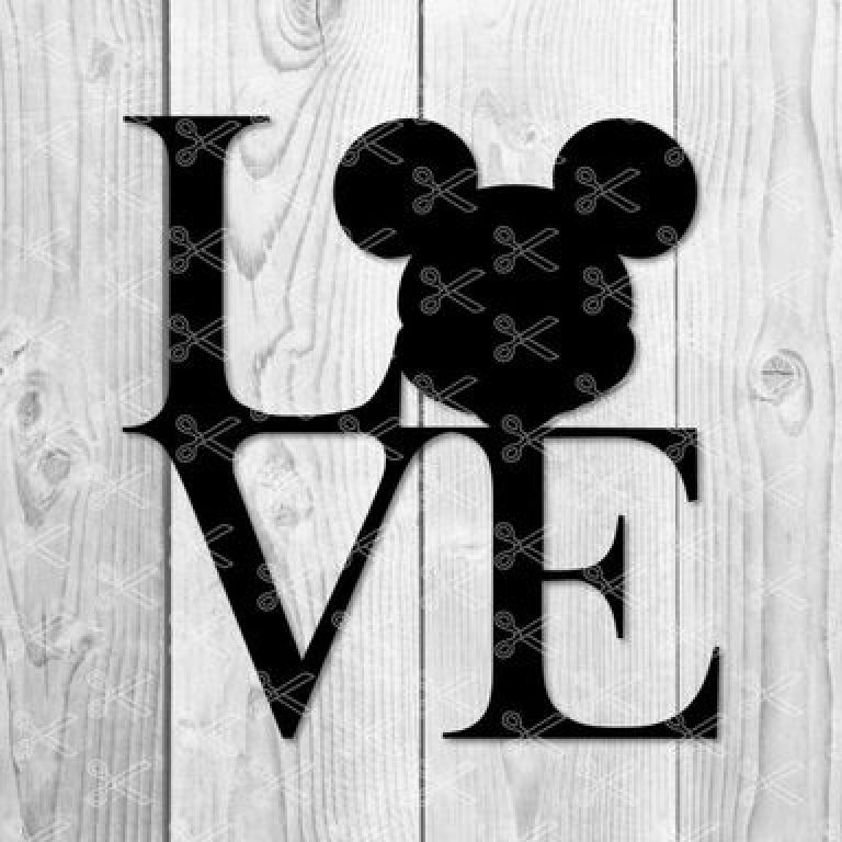 Download Love Mickey Mouse SVG PNG DXF Cut Files - High Quality ...