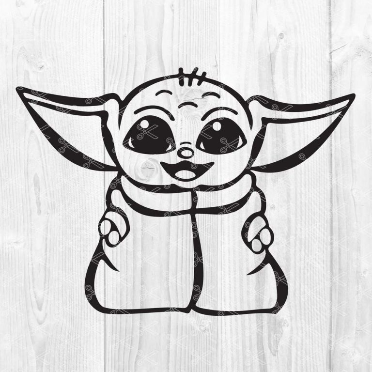 Download The Child Baby Yoda SVG DXF PNG - Star Wars SVG Cut File