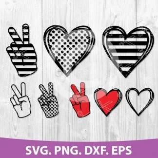 Download Peace Love Bundle SVG, DXF, PNG, EPS, Cut Files
