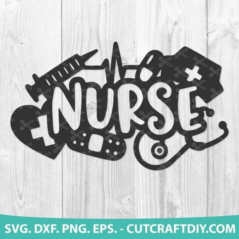 Download Nurse SVG, DXF, PNG, EPS, Cut Files - Nursing SVG - Nurse ...