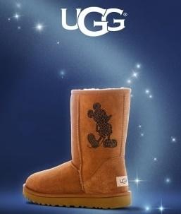ugg mintittle - スワロフスキーでかたどったミッキーがキュート「UGG ディズニー・クリスタル・カスタマイゼーション」