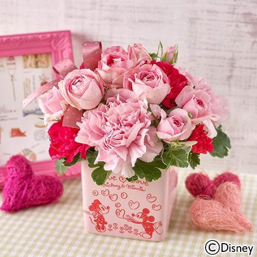 mother flower01 min - 母の日の贈り物は ディズニー フラワーギフト !! 日比谷花壇さんのお花アレンジが素敵❤︎